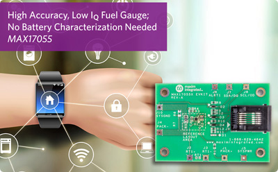 Maxim公司推出高精度、最低功耗的主机端电池电量计